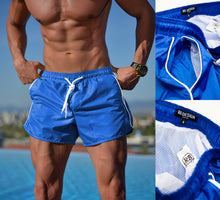 Bundle 3 -  Blue Mens Swimming Shorts + Blue Hat + Tank Top MD932