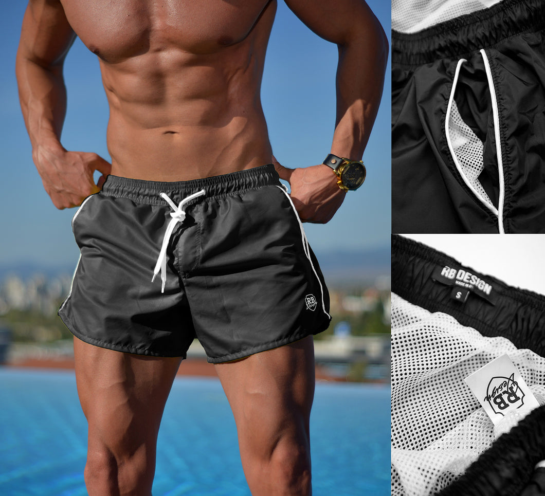 Mens Swimming Shorts BLACK BW01BK