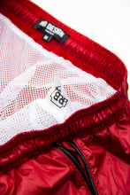 Bundle Red Mens Swimming Shorts + Black/White Hat BW01RBW