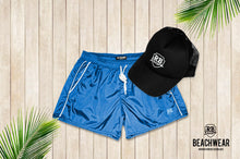 Bundle Mens Sky Blue Swimming Shorts + Black Hat BW01SBB