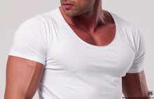 Men's Plain White Scoop Neck T-shirt