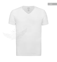 Men's Plain White V-Neck T-shirt