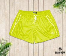 Bundle Mens Swimming Shorts + Electric Green Hat  BW01EGH
