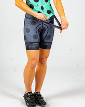 Spray Dots Petunia Bib Short-This item is only available by PRE-ORDER. All pre-orders will ship 9/17.
