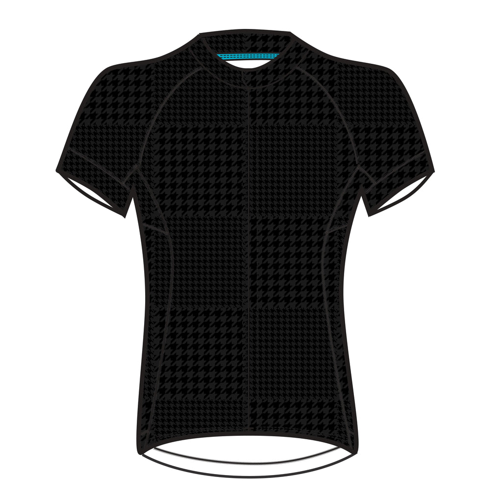 Black Tonal Houndstooth Divine Jersey