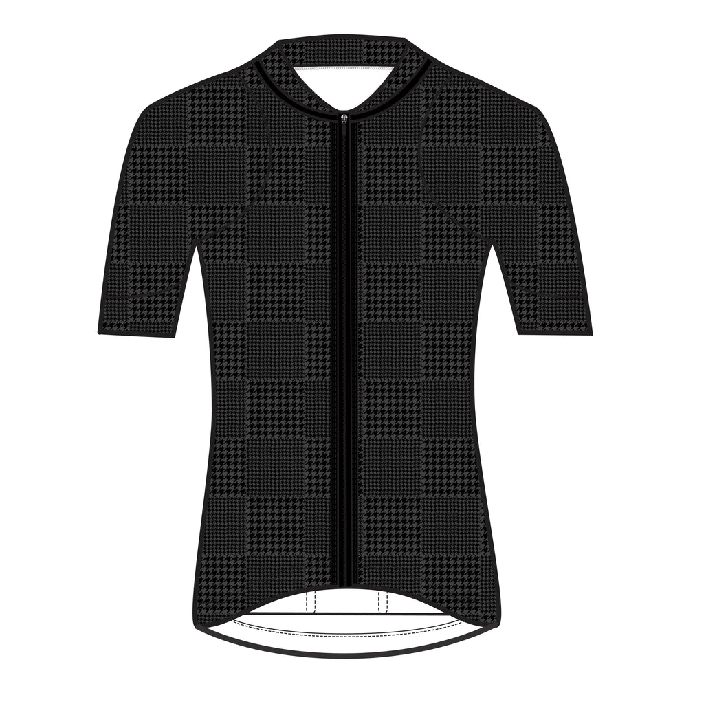 Black Tonal Houndstooth Sheena Jersey