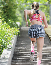 WILDEBEEST GINGHAM STYLE RUNNING SHORT