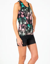 Majestic Palm Tri Troika Racerback Tank-FINAL SALE*