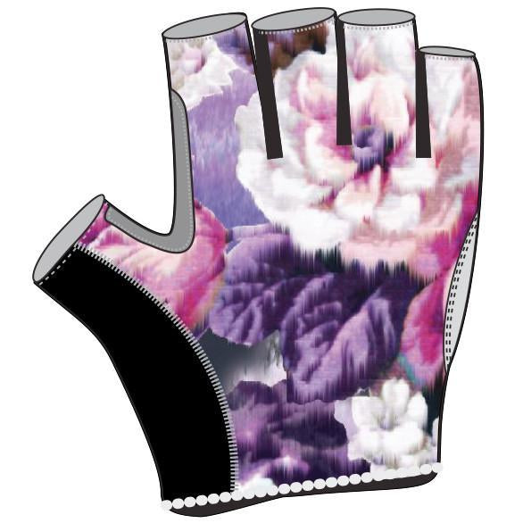 Peonies Short Finger Gloves