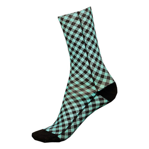 GINGHAM SHORT SOCKS