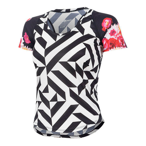 BURN KLEO BLOOM ACTIVE TEE