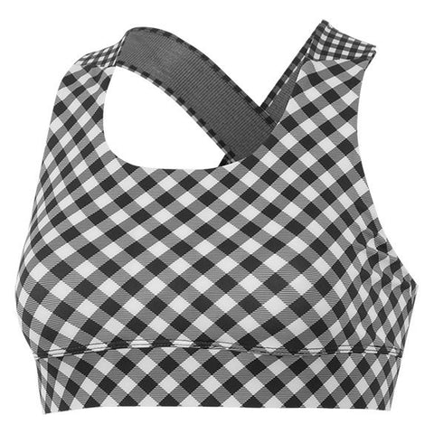 GAZELLE GINGHAM SPORTS BRA