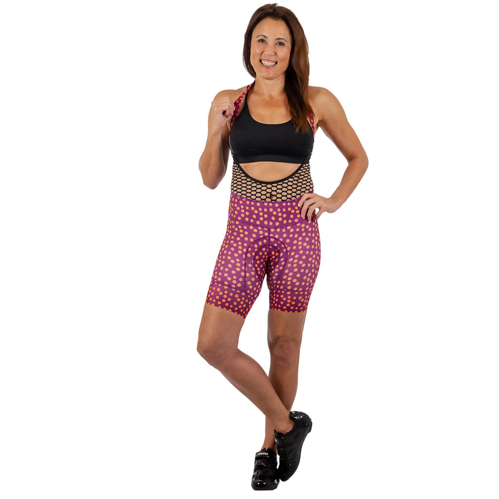 Speckle Petunia Bib Short-FINAL SALE*