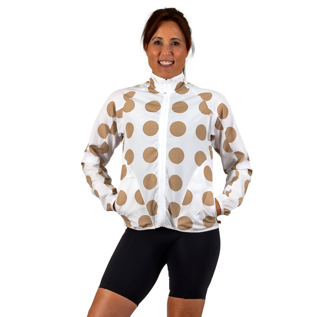 Polka Dot Veneer Jacket PLUS