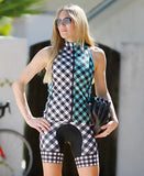 GINGHAM PETUNIA BIB SHORT