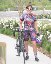 Secret Garden Petunia Bib Short