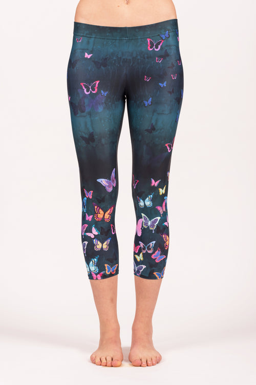 Butterfly Forest Capri Legging