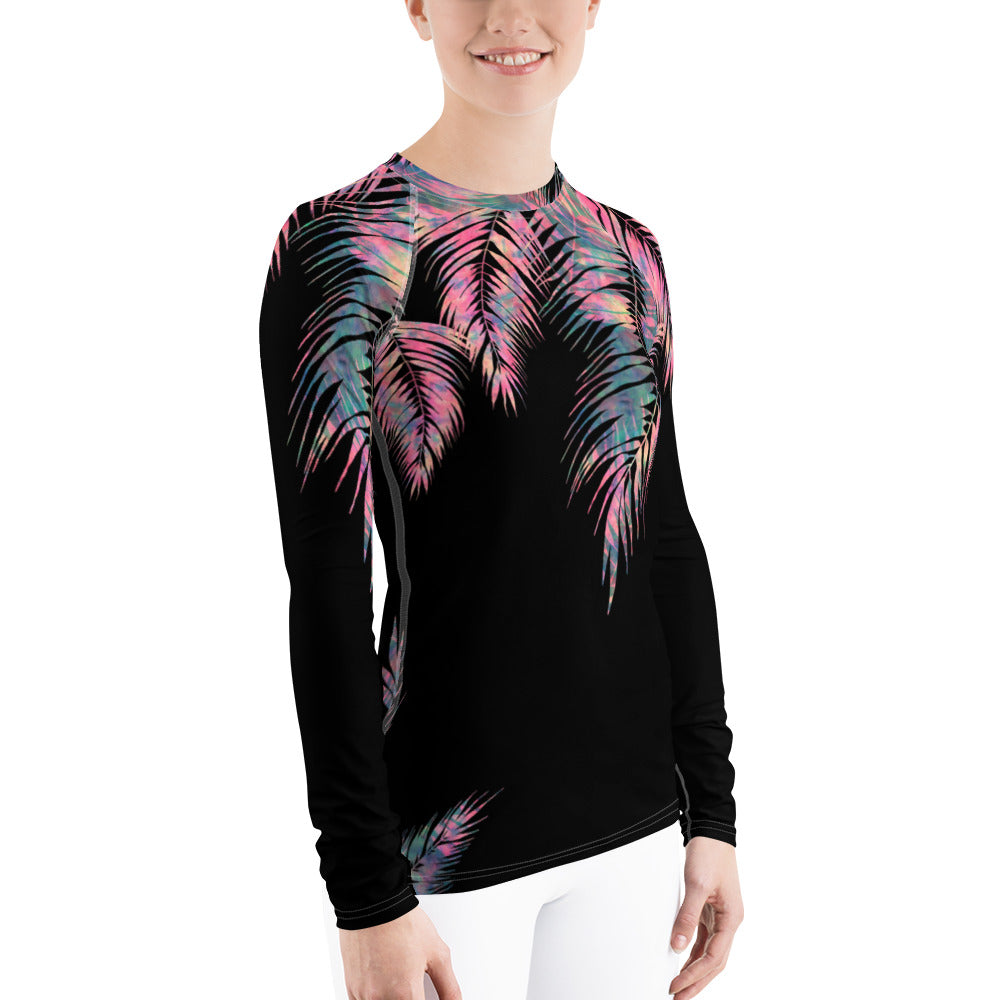 Maui Palm Women's Rash Guard