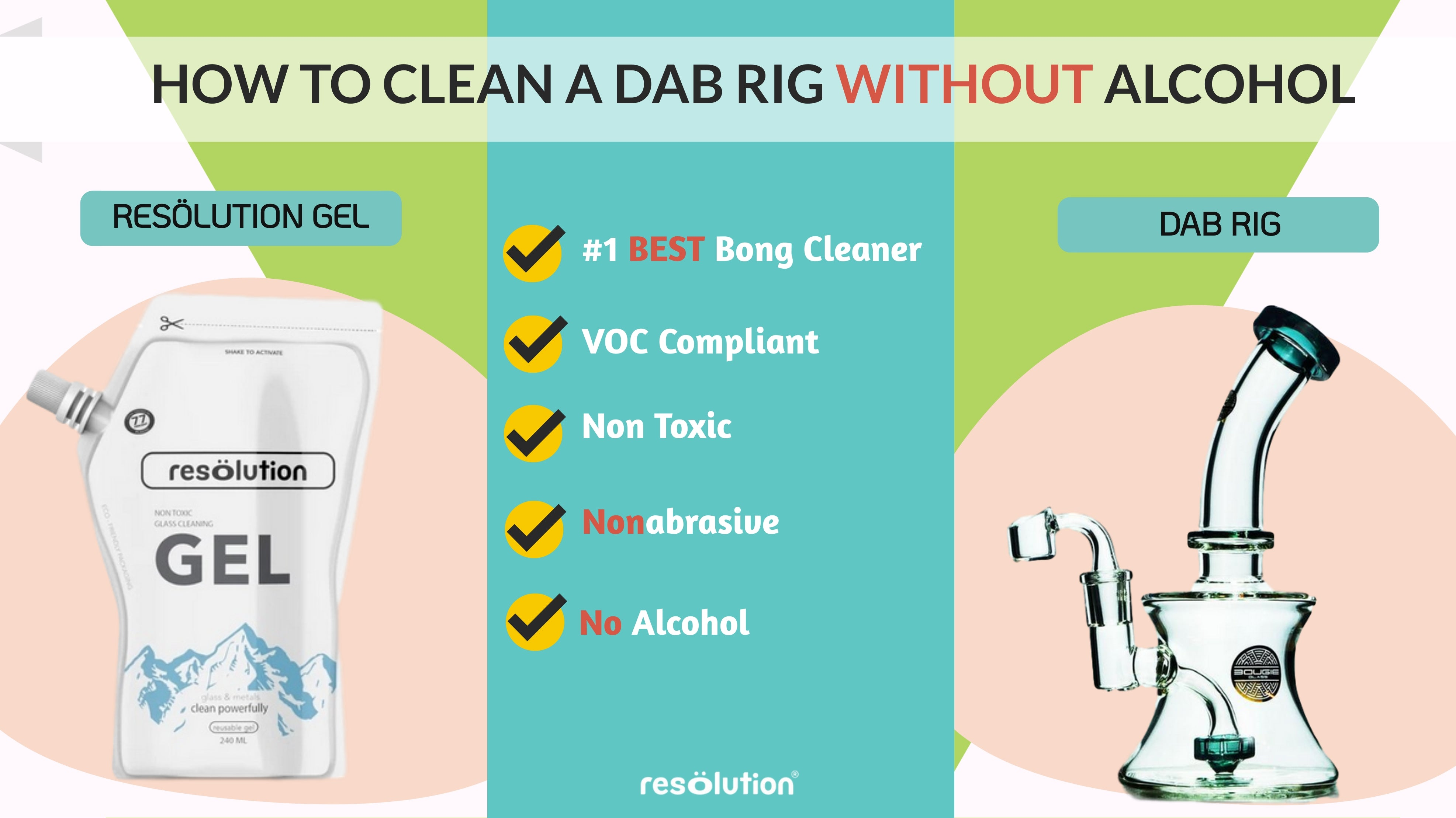 how to clean a dab rig without alcohol