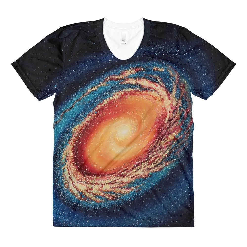 Galaxy No. 9 Space Shirt - Bold and Colorful Design from Original Art Print