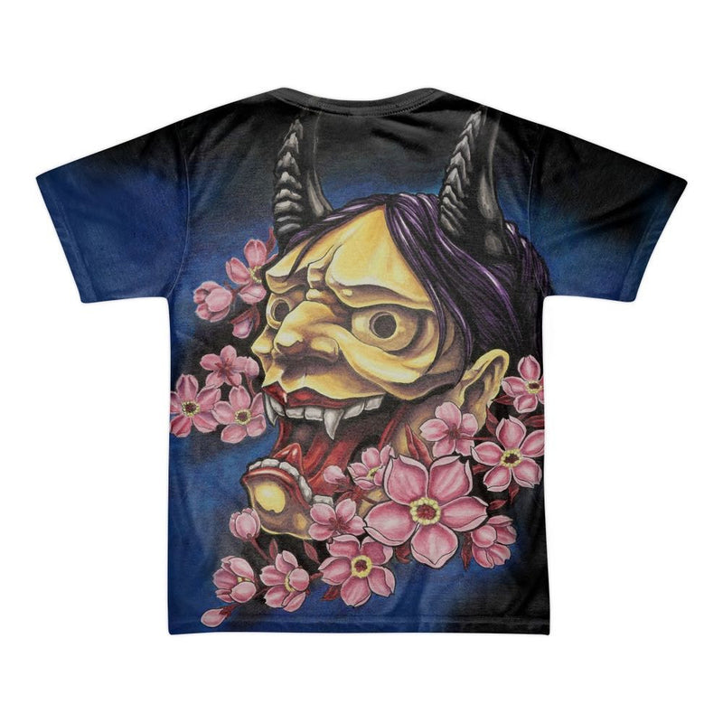 4954ef4d1 ... Men's shirt featuring an all over print of an original, Japanese print  inspired painting of ...