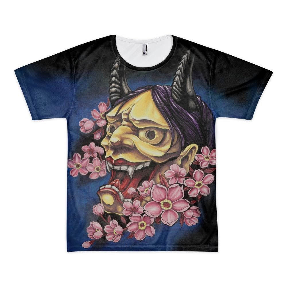 2c89ef825 Men's shirt featuring an all over print of an original, Japanese print  inspired painting of ...
