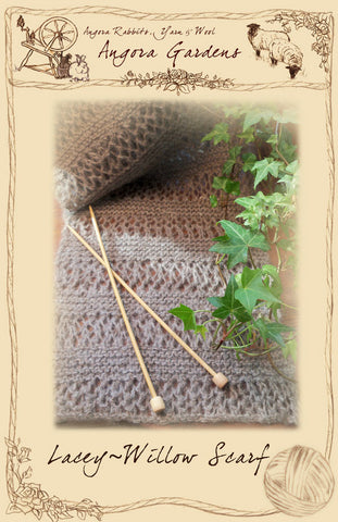 Lacey-Willow Scarf Pattern $3 Downloadable PDF