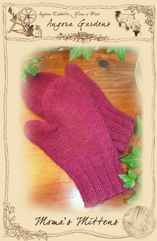 Moma's Mittens Pattern $3 PDF Download