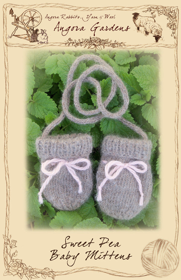 Sweet Pea Baby Mittens Pattern ~ $3 PDF Download