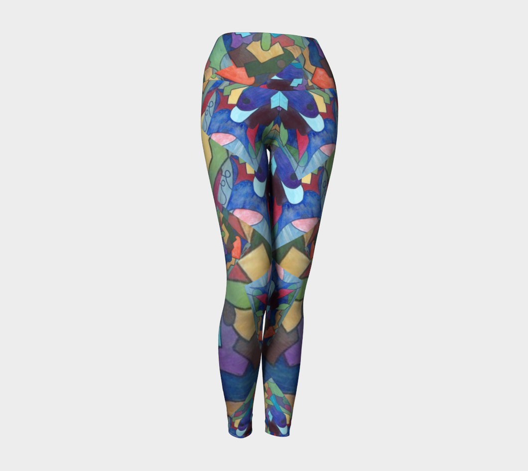 Fire N Ice Yoga Pants/ Keleidoscope