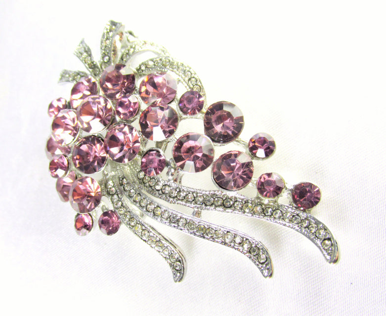 Purple Alexandrite Cascading Crystal Brooch - Odyssey Cache - 1