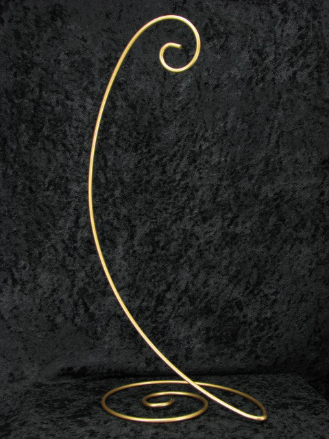 Spiral Base Medium Ornament Stands in Black, Antique Gold, or Brass - Odyssey Creations