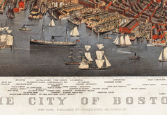 Boston, MA Historical Map - 1873
