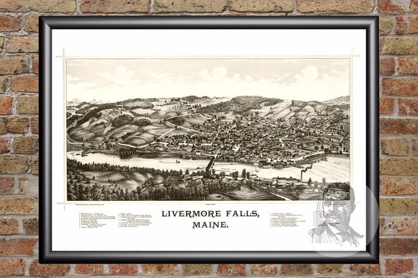 Livermore Falls, ME Historical Map - 1889