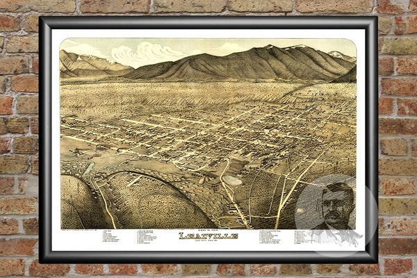 Leadville, CO Historical Map - 1879