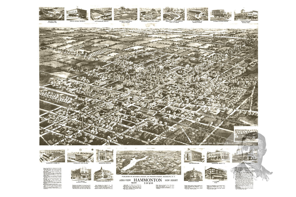 Hammonton, NJ Historical Map - 1926 - Ted's Vintage Maps