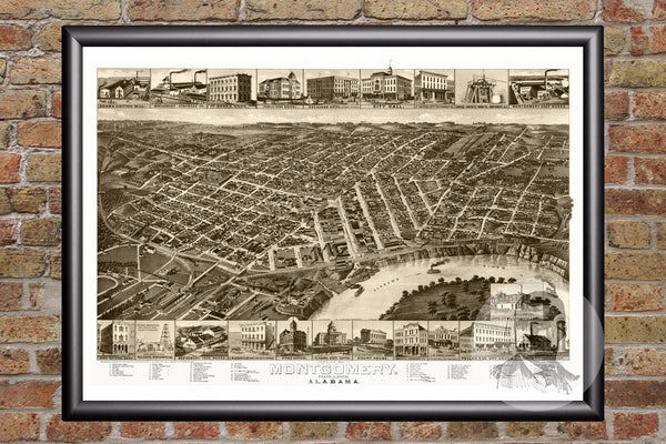 Montgomery, AL Historical Map - 1887