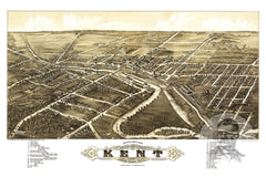 Kent, OH Historical Map - 1882