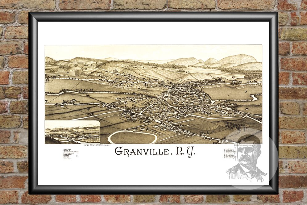 Granville, NY Historical Map - 1886 - Ted's Vintage Maps