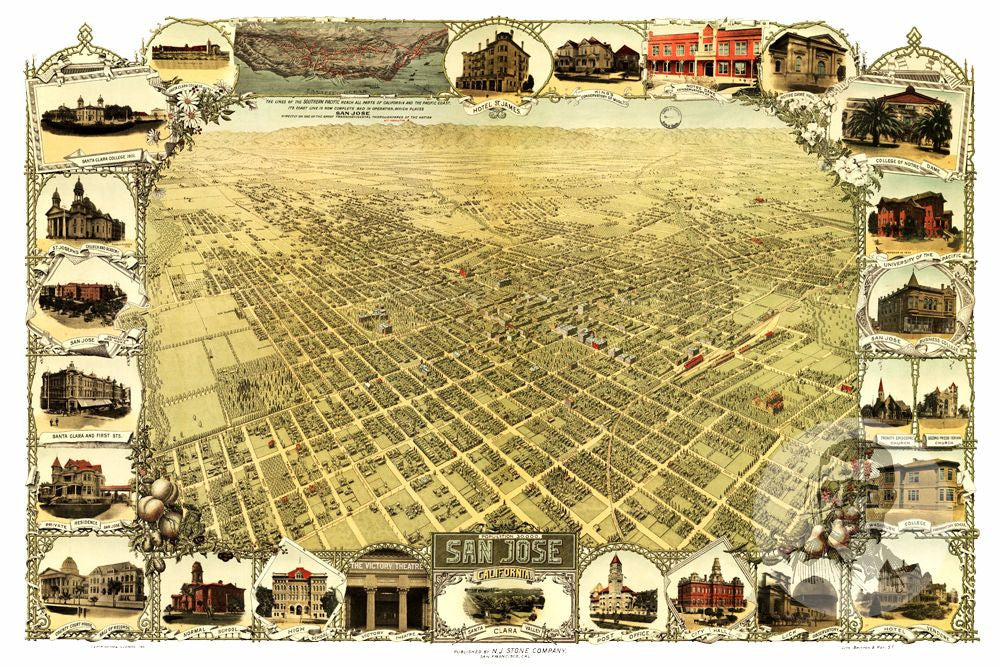 San Jose, CA Historical Map - 1901