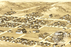 Pacific, MO Historical Map - 1869