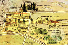 Los Angeles, CA Historical Map - 1932