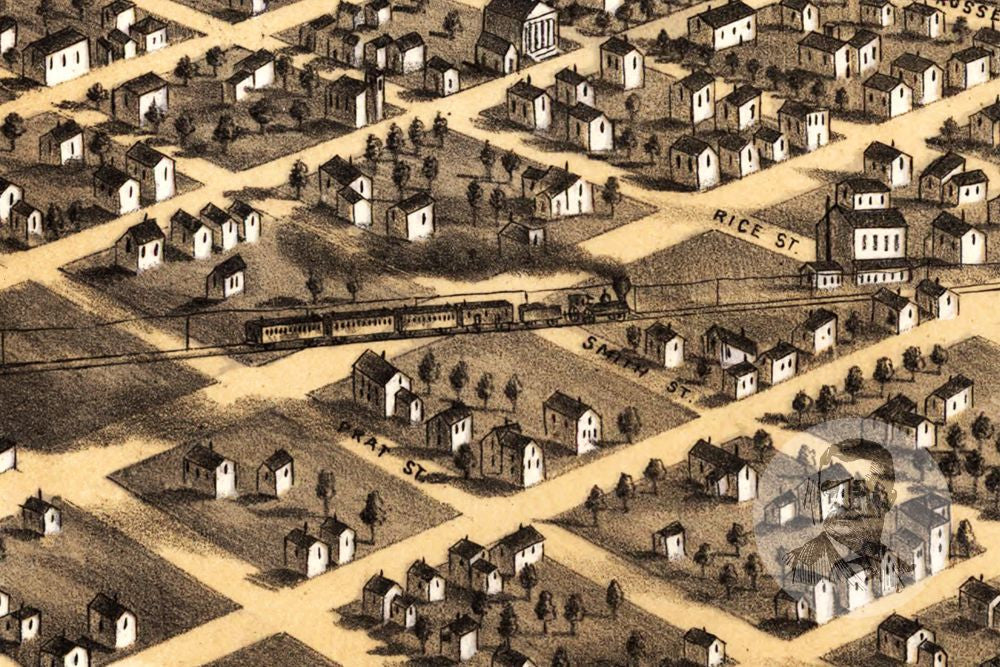 Minneapolis, MN Historical Map - 1867