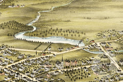 Garrettsville, OH Historical Map - 1883