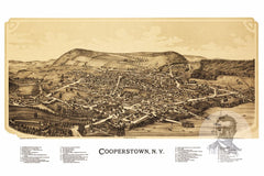 Cooperstown, NY Historical Map - 1890