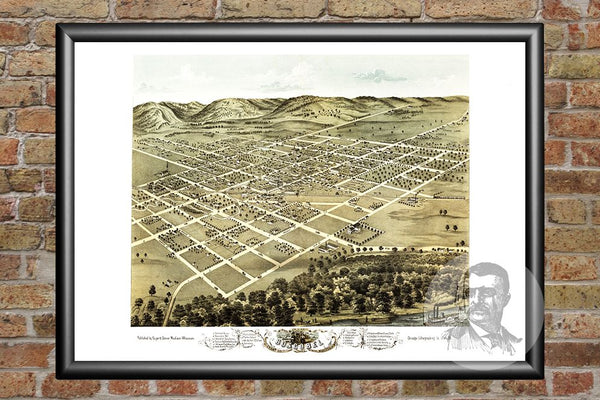 Boscobel, WI Historical Map - 1869