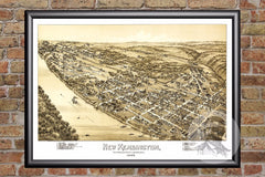 New Kensington, PA Historical Map - 1896