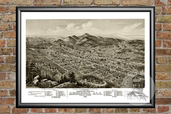 Anniston, AL Historical Map - 1888