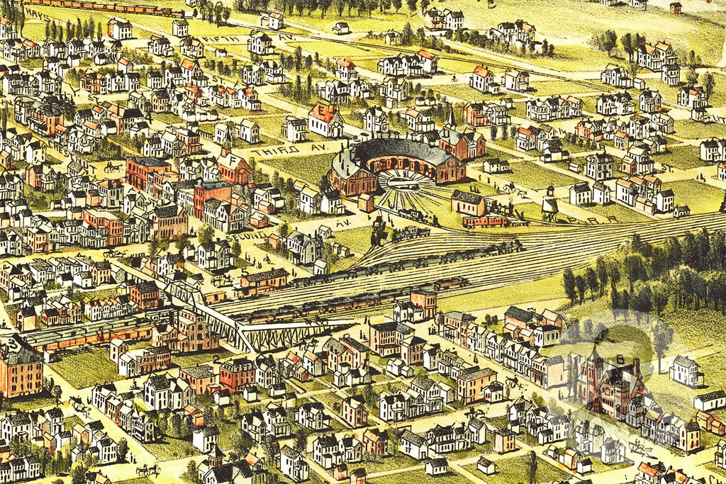 Derry Station, PA Historical Map - 1900 - Ted's Vintage Maps
