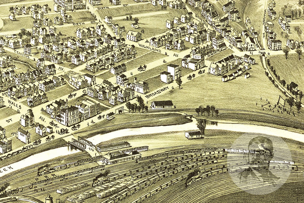 Pitcaim, PA Historical Map - 1901
